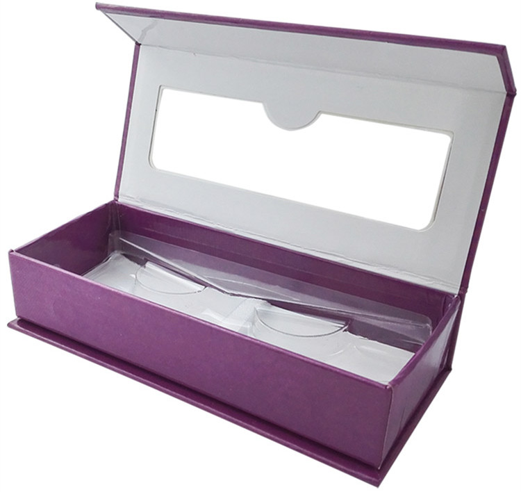 magnetic box with window eyelashes box