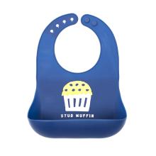Baberos de silicona cómodos impermeables personalizados para bebés