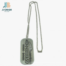 High Quality Alloy Casting Emboss Custom Letter Promotion Dog Tag