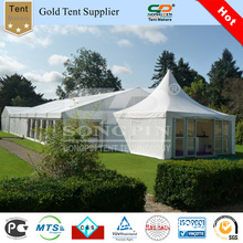 Luxury Big Wedding Pagoda Tent with Glass Wall and Glass Door for Hotel Events