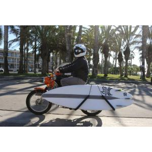 Aluminum surfboard moped rack