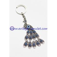 Fashion Evil Eye Peacock Keychain Factory Wholesale
