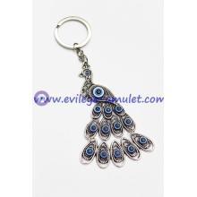 Fashion Evil Eye Peacock Keychain Factory Wholesale