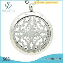 Porte-pierres à parfum argenté à chaud, bijoux en verre à base d'aromathérapie