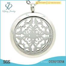 Venda quente prata perfume perfume locket, vidro aromaterapia jóias pingente