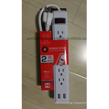 Smoart 6 Outlet USA American Power Strip with USB Socket