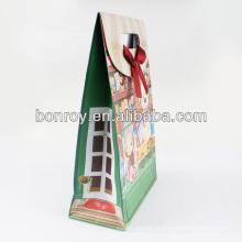 Магазинам бумажный мешок/подарок бумажный мешок/Бумажная хозяйственная сумка с лентой ручкой