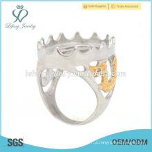 Atacado de aço inoxidável oco indonésia mens anéis, anéis de alta qualidade