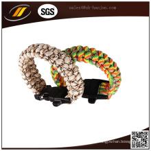 Bracelete Paracord de Sobrevivência de Alta Qualidade 550 Atacado