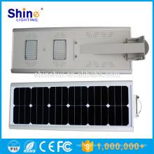 20W precio de fábrica IP65 integrado todo en una luz de calle solar del LED