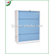Modern office use steel file locker cupboard with 4 drawers
