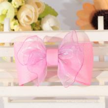 Custom organza lovely ribbon bow for hair