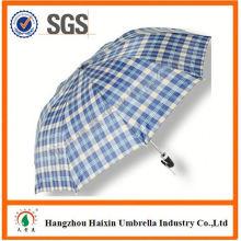 Günstigen Preisen!! Fabrik-Versorgungsmaterial-lila verteilt 2 Falten-Regenschirm mit krummen behandeln