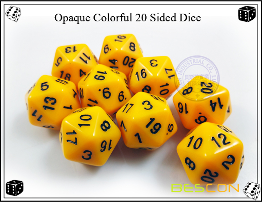 Opaque Colorful 20 Sided Dice-2