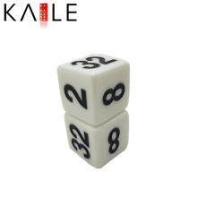 22mm Straight Corner White with Black Figure dices