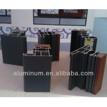 Perfiles de aluminio de madera de corte térmico para puertas y ventanas