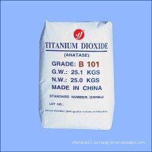 Materia prima química Dióxido de titanio para la industria general Anatase B101