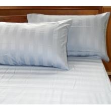 100% tela de algodón con rayas para sábanas