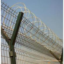 Clôture soudée de fil pour l'aéroport ou la frontière