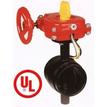 UL, Ulc Grooved Type Butterfly Valve