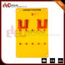 Электропопулярный Хорошая Изолированность Желтый 10 Навесных замков Protable Safety Lockout Tagout Station