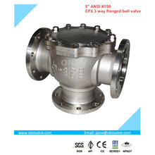 "4 Way Stainless Steel Flange Ball Valve (NQ4-2"")"