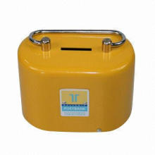 Safety Cash Box with Powder Coating, Plastic Tray and Cylinder Lock, Measures 109 x 64 x 78mm
