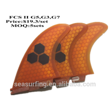 Tansparent Surfboard Fins With Honeycomb quilhas de prancha de Fin