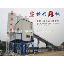 HZS75 Central de hormigón automática Equipo de mezcla de hormigón
