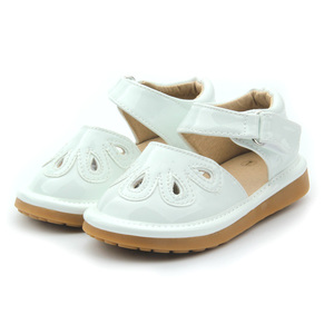 White Kids Girls Shoes Wholesale Squeaky Shoes Children