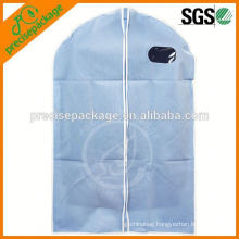 Personalized non woven suit bag with window and portable handles