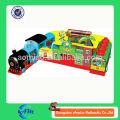 Popular tren inflable obstáculo curso para niños inflables tren