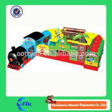 Популярный поезд надувные препятствия для детей надувной поезд