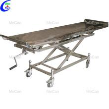 Chariot à main de corps d'équipement de transport de morgue funèbre