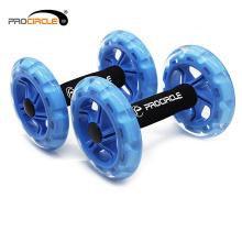 Rueda abdominal del equipo del ejercicio dos ruedas