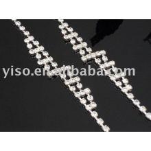 Pulseira de pulseira de cristal de strass