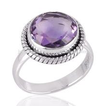 Améthyste authentique faite en argent sterling avec anneau cadeau merveilleux pour adolescent
