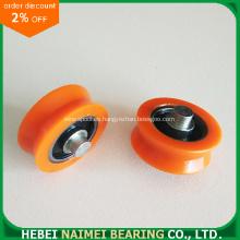 Polea de plástico con cojinete de acero al carbono insertado 608