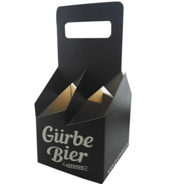 Caja de papel Kraft 4 Beer Pack Corrugated Display