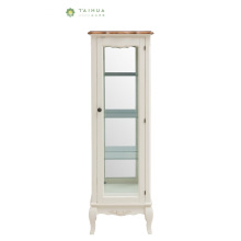 Glass Body Solid Wood Frame Wine Cabinet