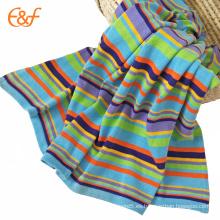 Manta lisa colorida del algodón orgánico del arco iris