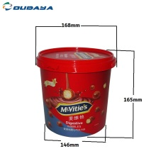 2.5L plastic cookie food IML container