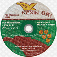 Roda do corte de Inox dos abrasivos, roda cortada abrasiva