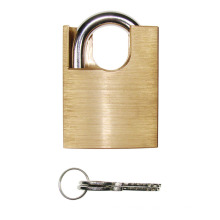 High Quality Brass Padlock W/Arc Shackle Protected 3 Brass Key (265BL)