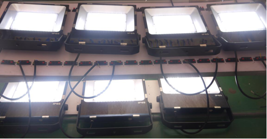 Aging of white color Flood Light