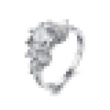 Moda feminina simples super anel de cristal de flash