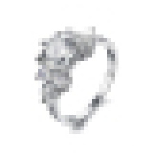 Женская мода простой супер флэш Кристалл кольцо