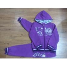 Fleece Kids Girl Sportswear Suit in Children ′s Clothes