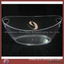 Crystal elegant acrylic large ice bucket with logo