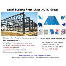 diseño de estructura de acero profesional / estructura de acero de diez años para las exportaciones